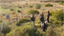 Image de la sortie sur le terrain du projet d'Hinterland